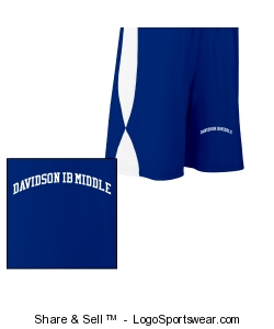 Youth athletic shorts royal/white Design Zoom