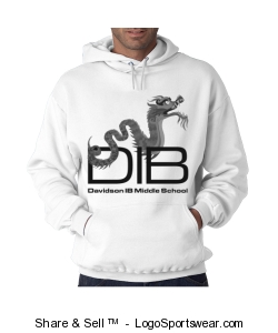 Adult unisex pullover sweatshirt in white Design Zoom