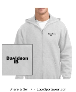 Unisex adult zip sweatshirt in light grey Design Zoom