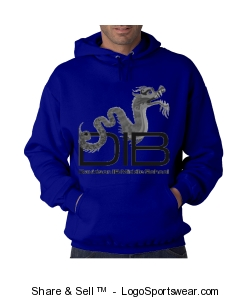 unisex adult pullover sweatshirt in Royal Design Zoom
