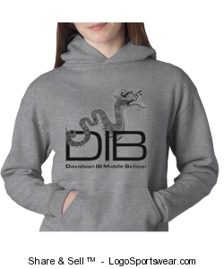 Youth unisex pullover sweatshirt in grey Design Zoom