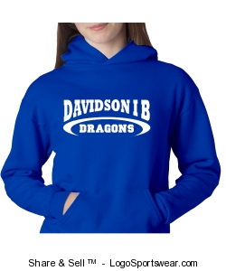 Youth unisex pullover sweatshirt in royal Design Zoom