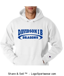 Adult unisex white Mascot pullover Design Zoom