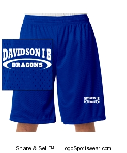 Adult mesh athletic shorts royal. Design Zoom