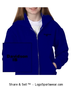 Unisex Youth full zip sweatshirt Design Zoom