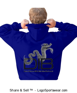 Unisex Adult royal full zip sweatshirt back only Design Zoom